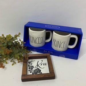 Rae Dunn Prince Princess Mugs